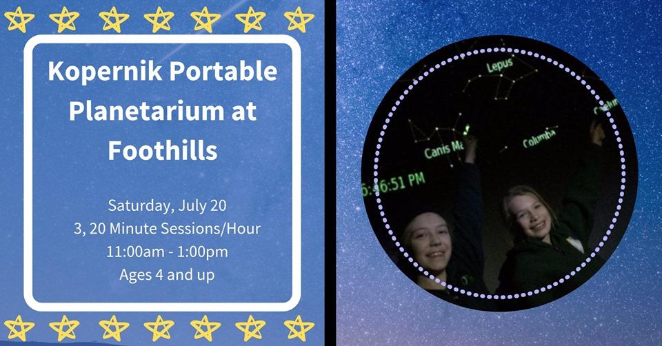 Kopernik Portable Planetarium at Foothills